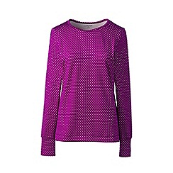 Lands' End - Pink plus thermaskin heat crew neck top