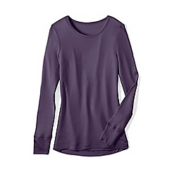 Lands' End - Purple lightweight feminine silk thermal crew neck tee