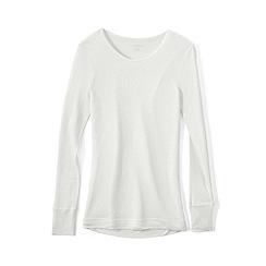Lands' End - Cream lightweight feminine silk thermal crew neck tee