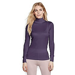 Lands' End - Purple lightweight feminine silk roll neck
