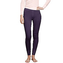 Lands' End - Purple women's feminine silk longjohns