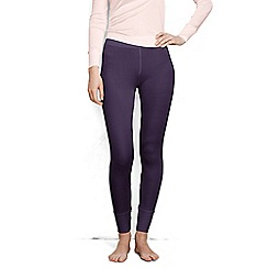 Lands' End - Purple lightweight feminine silk longjohns