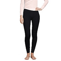 Lands' End - Black lightweight feminine silk longjohns