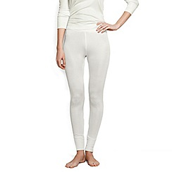 Lands' End - Cream lightweight feminine silk longjohns
