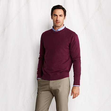 Lands+ End - fine gauge crewneck sweater
