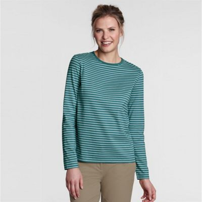 Green Refined Jersey Striped Crew Neck