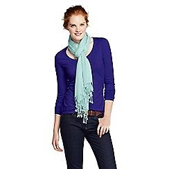Lands' End - Blue women's regular long sleeve cotton/modal scoop neck tee