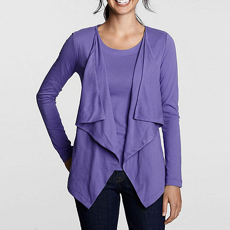 Lands+ End - Purple cascade cardigan