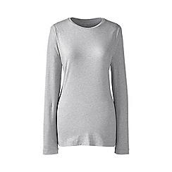 Lands' End - Grey regular long sleeve cotton/modal crew neck tee