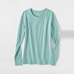 Lands' End - Multi women's regular long sleeve cotton/modal crew neck tee