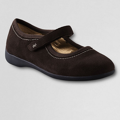 Lands+ End - Brown Girls+ Mary Jane Shoes