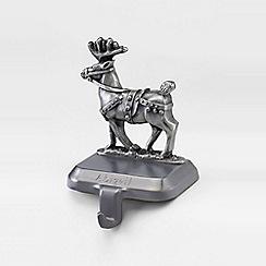 Lands' End - Metallic pewter stocking holder