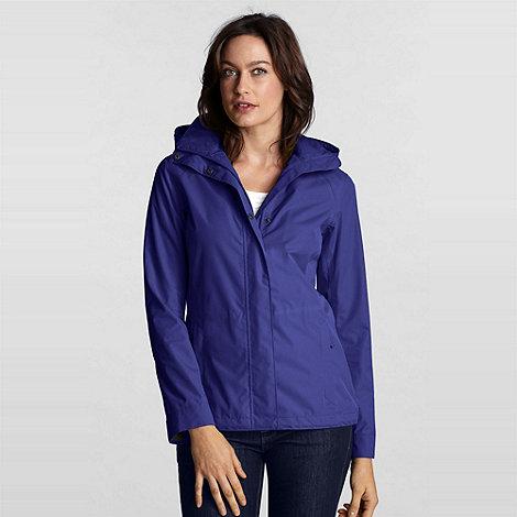 Lands+ End - Blue Petite Rainstop Jacket