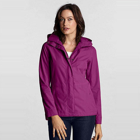 Lands+ End - Pink Petite Rainstop Jacket