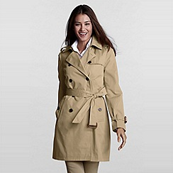 Lands' End - Green Modern Rain Trenchcoat