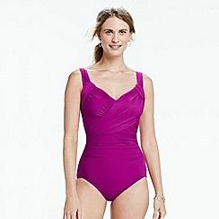 Lands' End - Purple sweetheart slender swimsuit