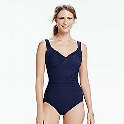 Lands' End - Blue sweetheart slender swimsuit