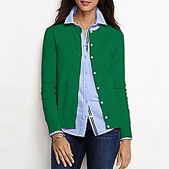 Lands' End - Green women's regular long sleeve supima fine gauge cardigan