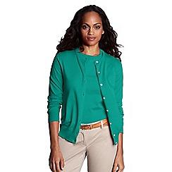 Lands' End - Green regular long sleeve supima fine gauge cardigan