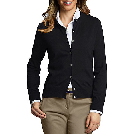 Lands+ End - Black plus fine gauge cardigan