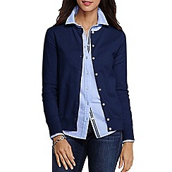 Lands' End - Blue women's regular long sleeve supima fine gauge cardigan