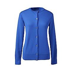 Lands' End - Blue regular long sleeve supima fine gauge cardigan