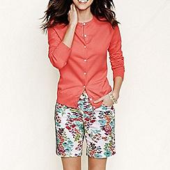 Lands' End - Pink women's regular long sleeve supima fine gauge cardigan