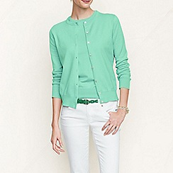Lands' End - Green women's regular long sleeve supima fine gauge cardigan