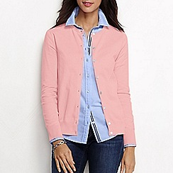 Lands' End - Pink women's regular long sleeve supima fine gauge cardigan