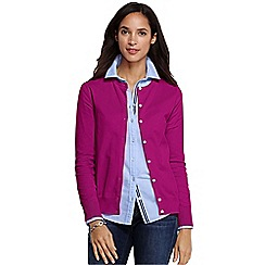 Lands' End - Pink regular long sleeve supima fine gauge cardigan