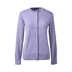 Lands' End - Purple regular long sleeve supima fine gauge cardigan
