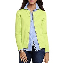Lands' End - Yellow women's regular long sleeve supima fine gauge cardigan