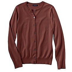 Lands' End - Red regular long sleeve supima fine gauge cardigan