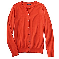 Lands' End - Orange women's regular long sleeve supima fine gauge cardigan