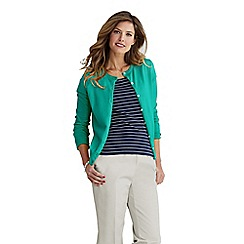 Lands' End - Green petite long sleeve supima fine gauge cardigan
