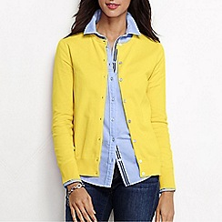 Lands' End - Yellow women's long sleeve supima fine gauge cardigan