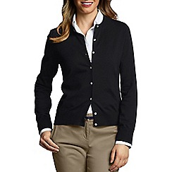 Lands' End - Black Petite Fine Gauge Cardigan