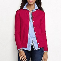 Lands' End - Red women's long sleeve supima fine gauge cardigan