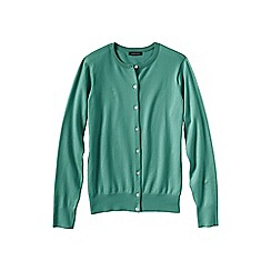 Lands' End - Green women's long sleeve supima fine gauge cardigan