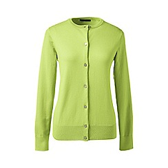Lands' End - Green regular long sleeve supima fine gauge cardigan
