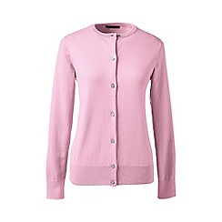 Lands' End - Pink petite long sleeve supima fine gauge cardigan