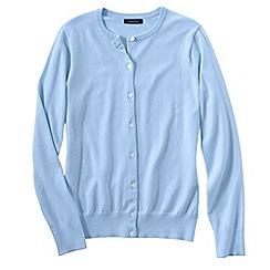 Lands' End - Blue petite long sleeve supima fine gauge cardigan