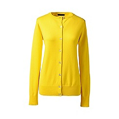 Lands' End - Yellow petite long sleeve supima fine gauge cardigan