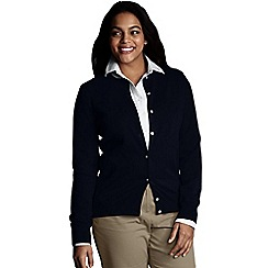 Lands' End - Black women's long sleeve supima fine gauge cardigan