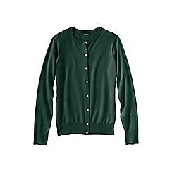 Lands' End - Green women's long sleeve supima fine gauge cardigan