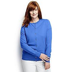 Lands' End - Blue plus long sleeve supima fine gauge cardigan