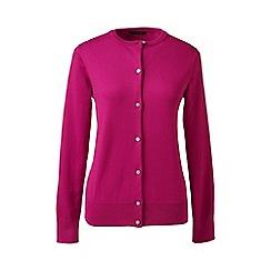 Lands' End - Bright purple plus long sleeve supima fine gauge cardigan