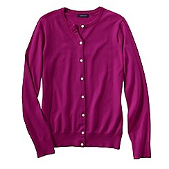 Lands' End - Pink women's long sleeve supima fine gauge cardigan