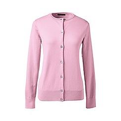 Lands' End - Pink plus long sleeve supima fine gauge cardigan