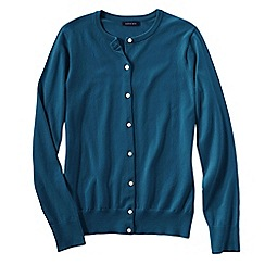 Lands' End - Blue women's plus long sleeve supima fine gauge cardigan